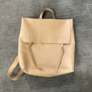 Eileen fisher leather backpack